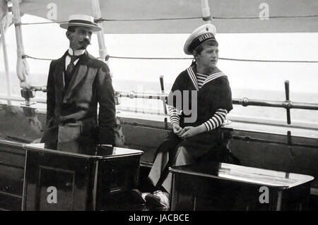 PIERRE GILLARD (1879-1962) Swiss language tutor to the children of Nicholas II with Tsarevich Alexei in 1914 aboard the Imperial yacht Standart while the family was on holiday.