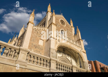 Iglesia de San Jerónimo El Real, a Roman Catholic church and remains of a former Hieronymite monastery, Retiro District, - Stock Photo