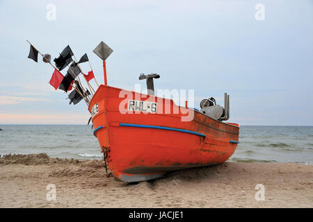 fishing boat on the polish east coast - Stock Photo