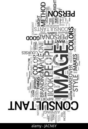 WHAT MAKES A GOOD IMAGE CONSULTANT TEXT WORD CLOUD CONCEPT - Stock Photo