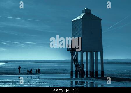 Burnham-on-sea low lighthouse - Stock Photo