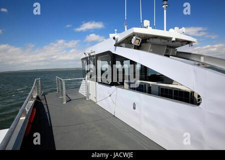 bridge of a NYC Ferry - Stock Photo