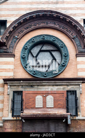 Emery Roth Synagogue, now an art studio, on Rivington Street on the lLower East Side of Manhattan - Stock Photo