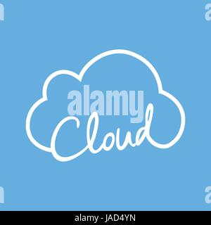 Cloud Business Technology, vector illustration - Stock Photo