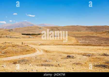 mountail plateau landscape near Sisian town in Armenia in autumn day