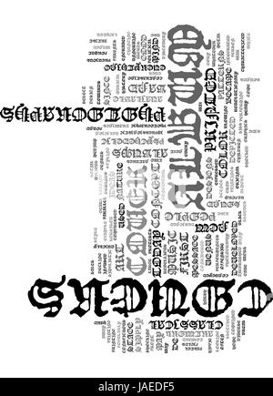 ALBUM COVERS TEXT WORD CLOUD CONCEPT - Stock Photo