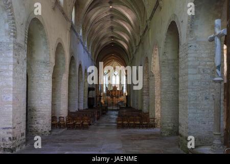 France, Jura, Baume les Messieurs, labelled Les Plus Beaux Villages de France (The Most beautiful Villages of France), - Stock Photo