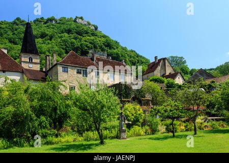 France, Jura, Baume les Messieurs, labelled Les Plus Beaux Villages de France (The Most beautiful Villages of France) - Stock Photo
