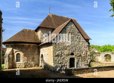 France, Loir et Cher, Montoire sur le Loir, Saint Gilles chapel - Stock Photo