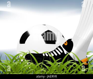 Football Background, soccer sport background. - Stock Photo
