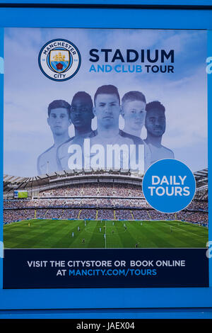 Etihad Stadium home to Manchester City football club, Manchester, England, U.K. - Stock Photo