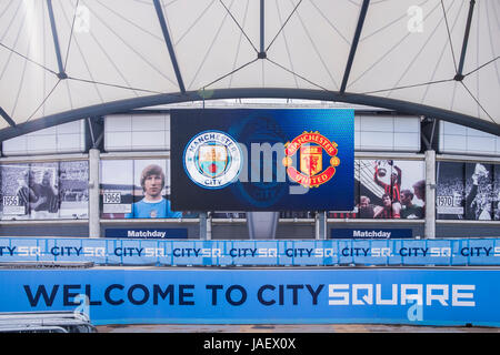 Etihad Stadium home to Manchester City football club, Manchester, England, U.K. - Stock Photo