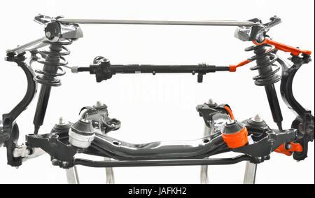 fake and original  mechanics part shoot in studio - Stock Photo