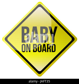 Baby on board - Stock Photo