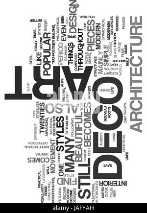 Collins Avenue Miami ART DECO AND ARCHITECTURE TEXT WORD CLOUD CONCEPT