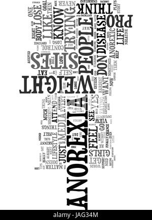 Anorexia word cloud concept  Vector illustration Stock