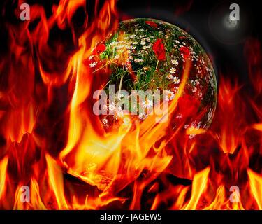 DIGITAL CONCEPT: The Destruction of a Planet - Stock Photo