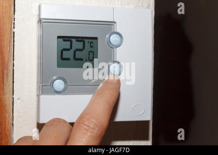 Central Heating Room Thermostat Stock Photo Royalty Free