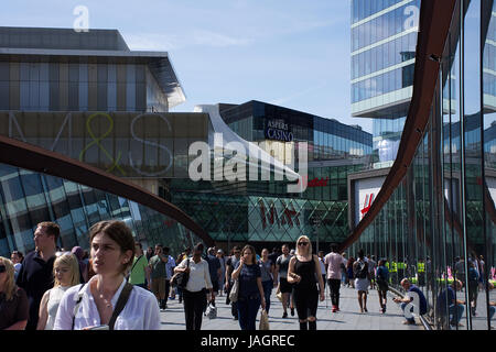 London Stratford , people on busy Saturday afternoon , 03.06.2017. - Stock Photo
