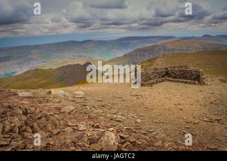 Helvellyn is a mountain in the English Lake District, the highest point of the Helvellyn range. its a Wainwright - Stock Photo
