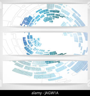Abstract Blue Banner. Vector Illustration. Eps 10. - Stock Photo