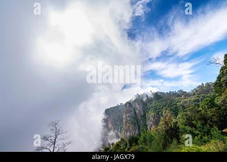 The beautiful pillar rocks of Kodaikanal in the Palani mountains look breathtakingly scenic and mesmerizing - Stock Photo