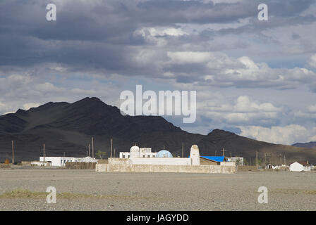 Mongolia,extreme west province,Bayan Olgii province,city of Bayan Ulgii,mosque, - Stock Photo
