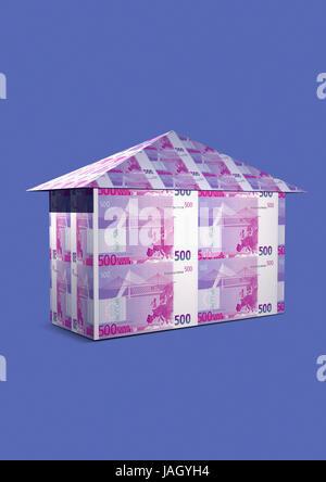 Icon for real estate house,euro, - Stock Photo