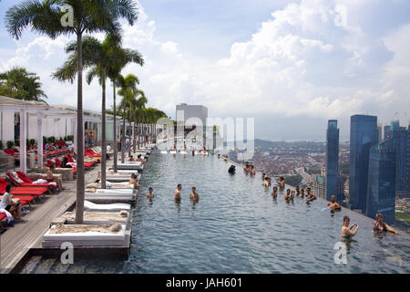 Marina Bay Sands Casino Deck Views Gardens By The Bay Flower Stock Photo Royalty Free Image