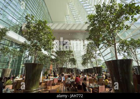 Singapore,hotel 'Marina Bay Sands',inside, - Stock Photo