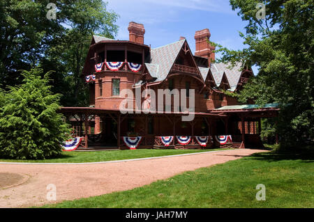 The Mark Twain house in Hartford, Connecticut, USA - Stock Photo