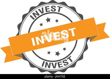 Invest stamp illustration - Stock Photo