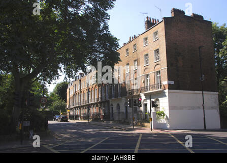 Canonbury Square Islington London - Stock Photo