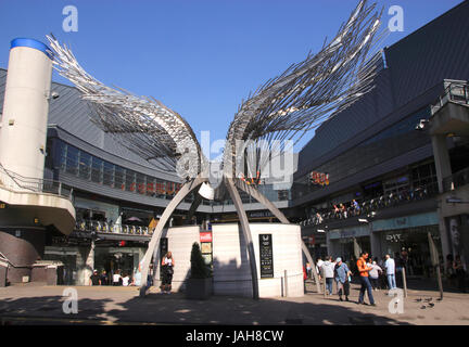 Angel Wings Sculpture Angel Central Shopping Centre Islington London - Stock Photo