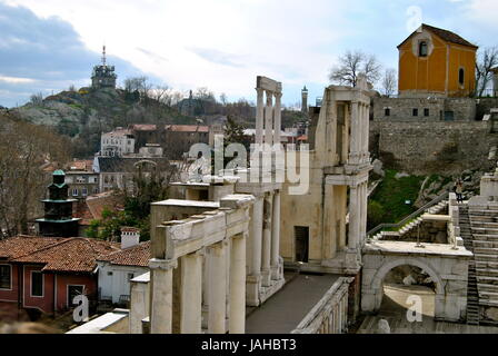 Roman theatre, Plovdiv, Bulgaria - Stock Photo