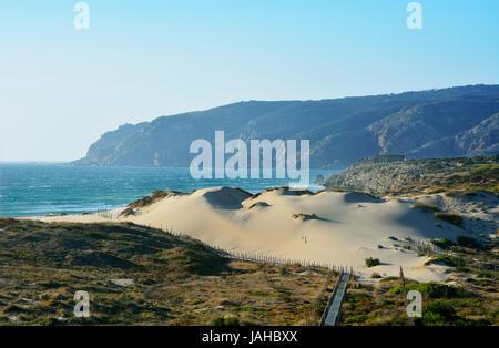 The big dunes of Guincho. Cascais, Portugal