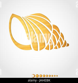 Summer Background. Seashell. Vector illustration. Eps 10. - Stock Photo