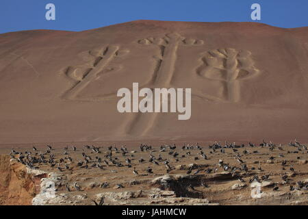 incas paracas kandelaber - Stock Photo