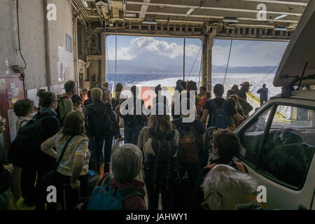Ferry arrived in Sifnos - Stock Photo