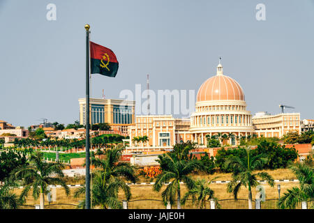Parliment builing in Luanda, Angola - Stock Photo