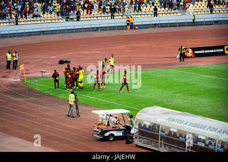 LUANDA, ANGOLA - JULY 04, 2015: Angola takes on South Africa in the group stage of the 2015 African Nations Championship - Stock Photo