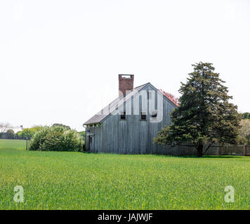 An old barn converted into a home in East Hampton NY - Stock Photo