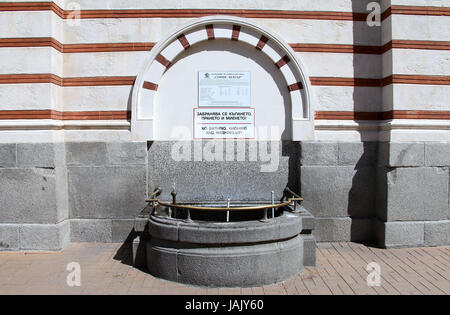 Drinking water fountain at the Mineral Baths building in Sofia - Stock Photo
