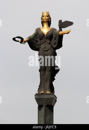 Symbolic statue of Sveta Sofiya in the Bulgarian capital of Sofia - Stock Photo