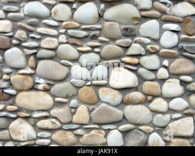 The smooth stone background, design of wall or fence - Stock Photo