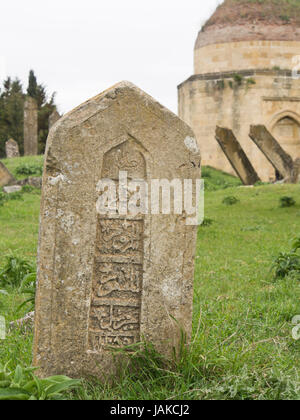 Yeddi Gumbez, Shirvan Domes or the Shamakhi mausoleum, tombs of Shirvan Dynasty rulers on a hillside outside the - Stock Photo