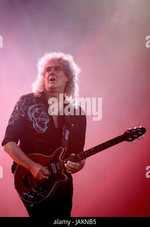 Queen with Brian May at Isle of Wight Festival June 12 2016, Newport IOW - Stock Photo