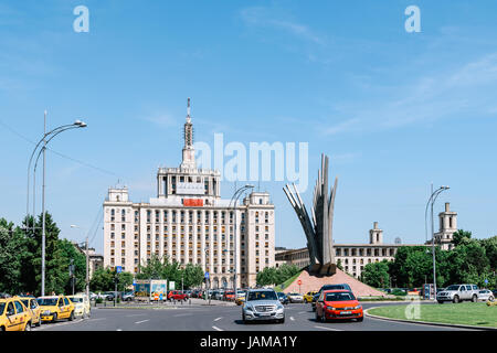 BUCHAREST, ROMANIA - MAY 24, 2017: Casa Presei Libere (House of the Free Press) is a building in Bucharest, the - Stock Photo