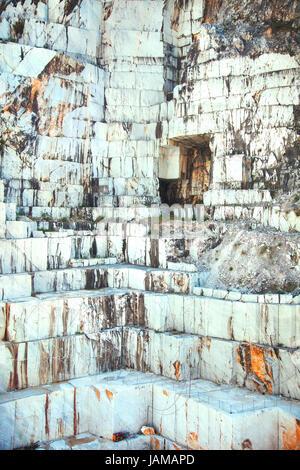 White marble quarry. Carrara, Tuscany, Italy Stock Photo