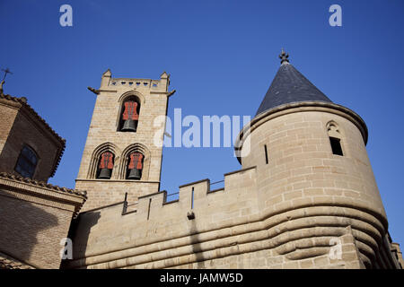 Spain,Navarre,Olite,king's palace,Palacio Real, - Stock Photo